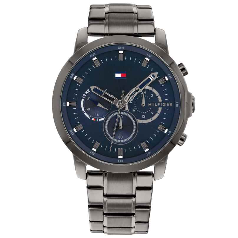Tommy Hilfiger 1791796 Herrenuhr Chronograph Dual Time Jameson Anthrazit 7613272415613