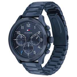 Tommy Hilfiger 1791853 Herrenuhr Multifunktion Asher Blau