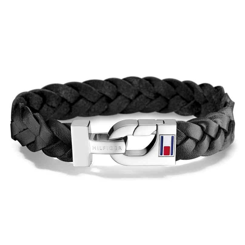 Tommy Hilfiger 2700872 Men's Leather Bracelet Casual Black