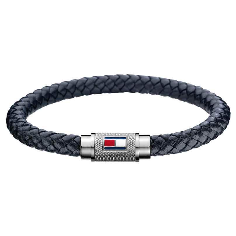 Tommy Hilfiger 2701000L Leder-Armband für Herren Schwarz 7613272375818