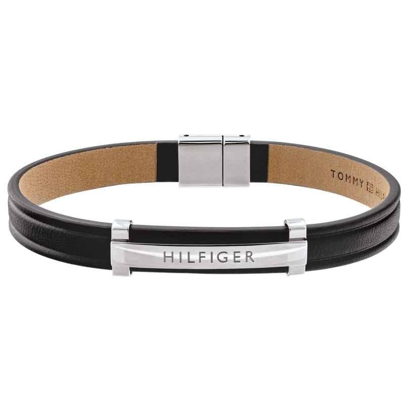 Tommy Hilfiger 2790161 Herren Leder-Armband Dressed Up Schwarz 7613272352444