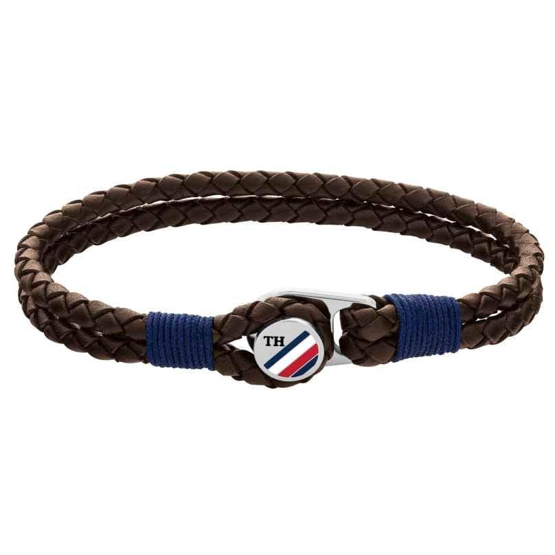 Tommy Hilfiger 2790196 Herren Leder-Armband Braun