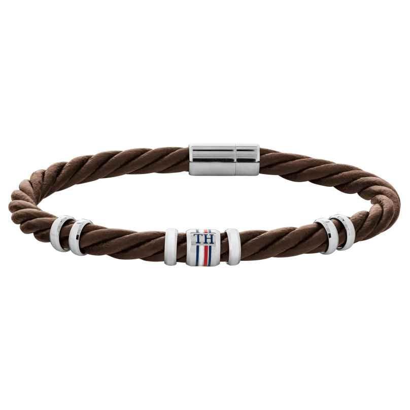 Tommy Hilfiger 2790200 Herren-Armband Leder Braun