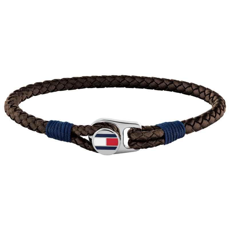 Tommy Hilfiger 2790207 Herren Leder-Armband Braun Casual