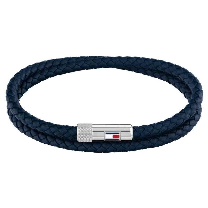Tommy Hilfiger 2790264 Herren-Armband Leder Blau