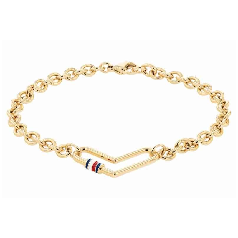 Tommy Hilfiger 2780445 Damen-Armband Herz Edelstahl vergoldet 7613272412285