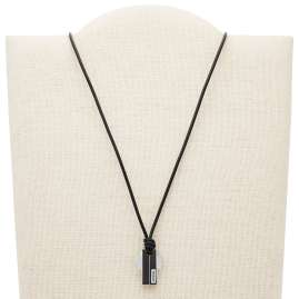Fossil JF03125998 Cross Pendant Men's Necklace