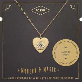 Fossil JF03243710 Ladies Necklace Evil Eye