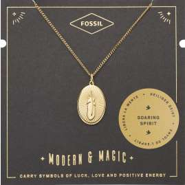 Fossil JF03246710 Damen-Kette Feather Pendant