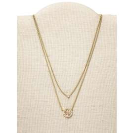 Fossil JF03253710 Women's Necklace Duo Mosaic
