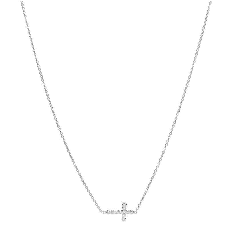 Fossil JFS00546040 Damen-Kette Glitz Crosses Silber 4064092062588