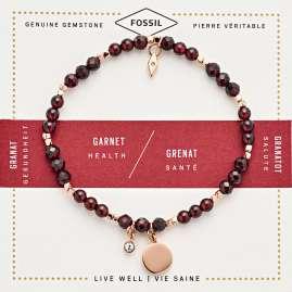 Fossil JA6985791 Damen-Armband Vintage Motifs Granat Rot