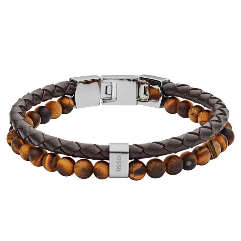 Fossil JF03118040 Herren-Armband Vintage Casual Braun 4013496240122