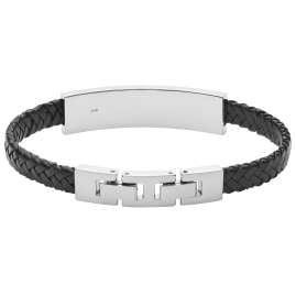 Fossil JF03437040 Men's Bracelet Leather Black