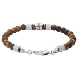 Fossil JF03448040 Men's Bracelet Heritage Brown Tiger's Eye