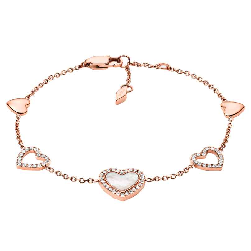 Fossil JF03458791 Women's Bracelet Hearts To You Rose Gold Plated Steel 4048803221044