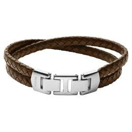 Fossil JF03685040 Herren-Armband Vintage Casual Leder Braun