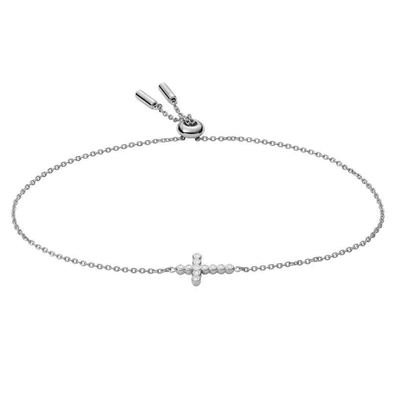 Fossil JFS00545040 Damen-Armband Crosses Silber 4064092062540