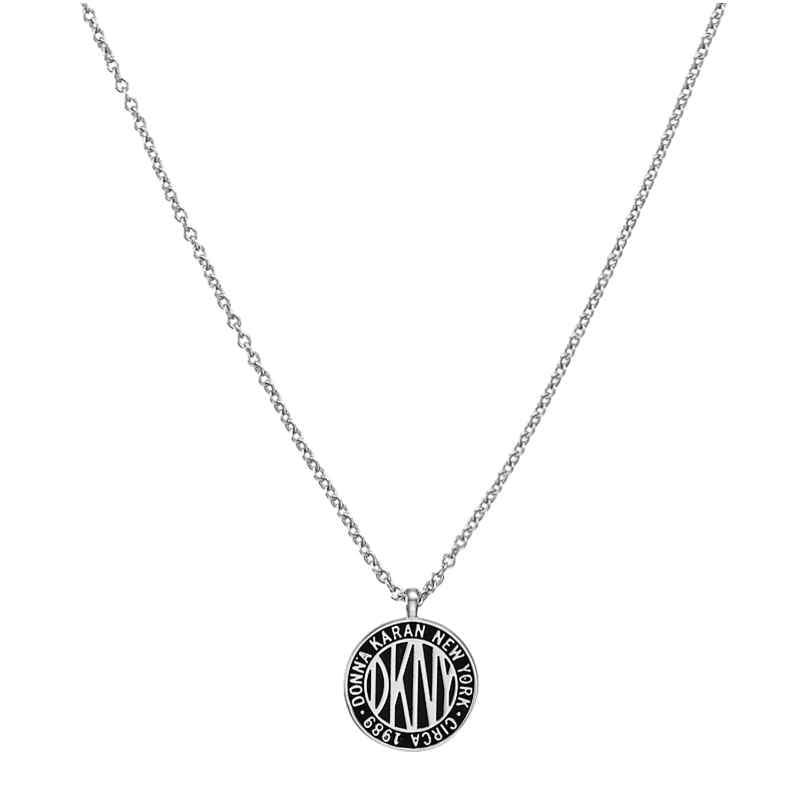DKNY 5520025 Damen-Halskette Large Token Logo Pendant 9009655200255