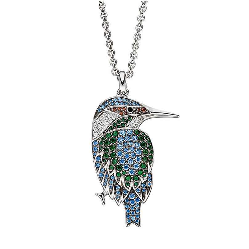 Viventy 782582 Damen-Halskette aus Silber Eisvogel 4028543289405