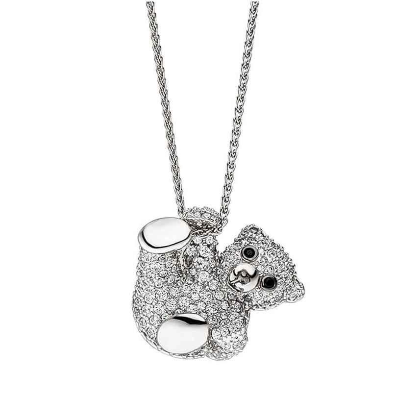Viventy 782592 Silber-Kette für Frauen Teddybär 4028543289436
