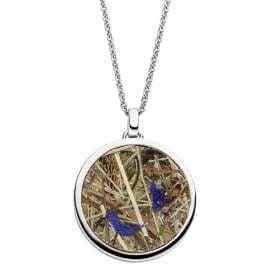 Viventy 783272 Silver Ladies' Necklace Pendant with Moss / Cornflowers