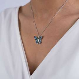Viventy 783702 Ladies' Necklace Butterfly Silver