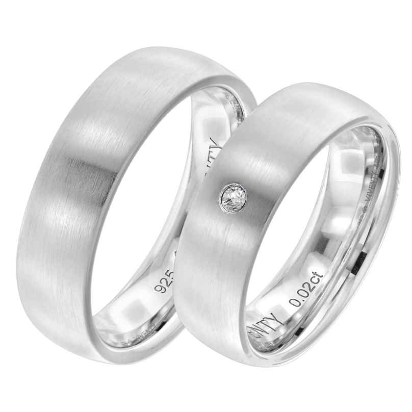 Viventy 8001 Verlobungsring Paar Silber 925 Diamant