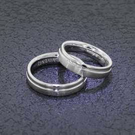 Viventy 8007 Engagement Rings Pair 925 Silver Diamonds
