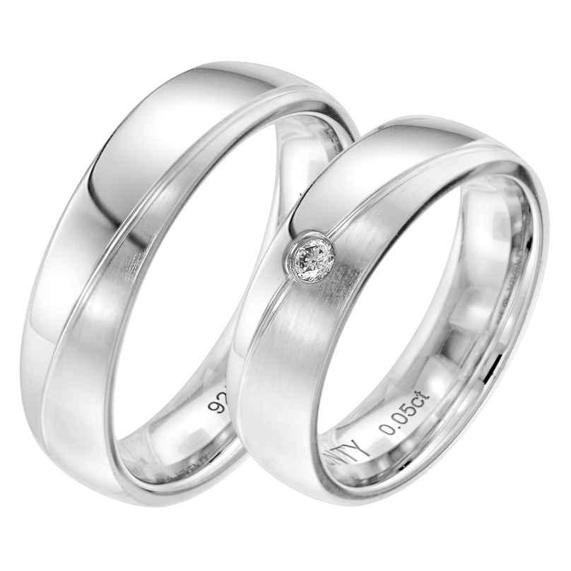 Viventy 8057 Verlobungsring Paar Silber 925 Diamant
