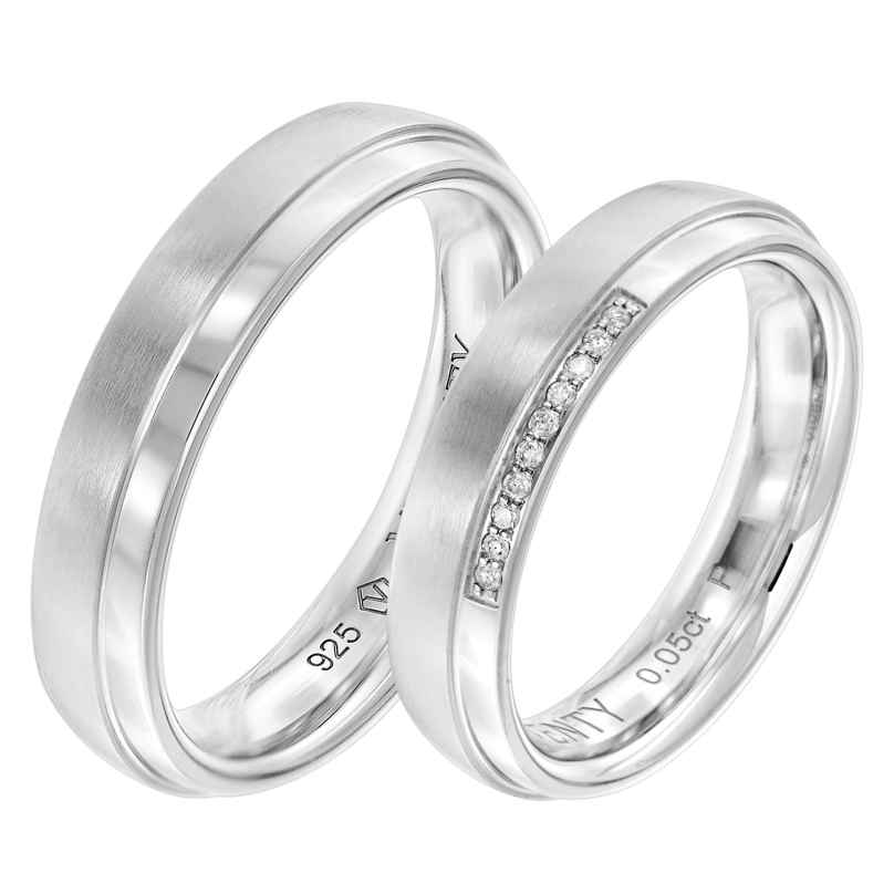 Viventy 8075 Partnerringe Paar 925 Silber Diamanten