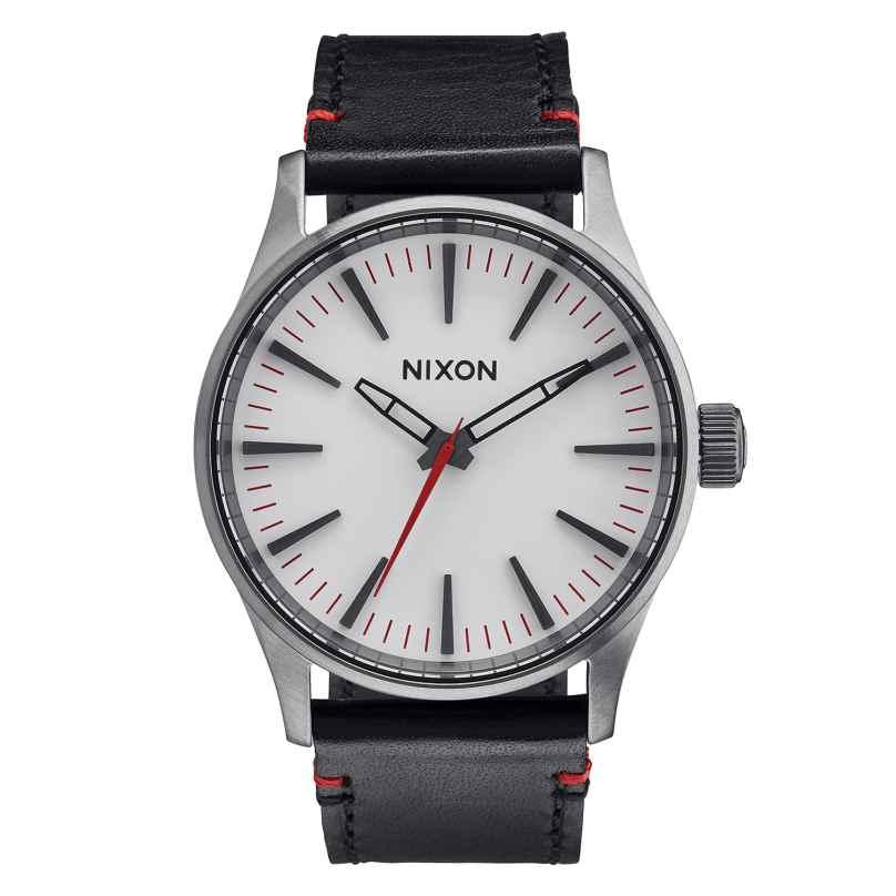 Nixon A377 486 Sentry 38 Gunmetal/White Armbanduhr 3608700746869
