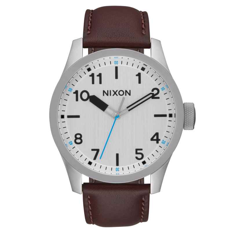 Nixon A975 1113 Safari Leather Silver/Brown Herrenuhr 3608700773254