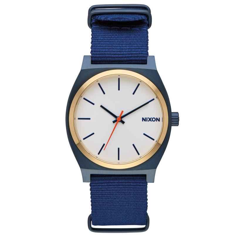 Nixon A045 2452 Time Teller Watch Blue/Gold/White 3608700818344