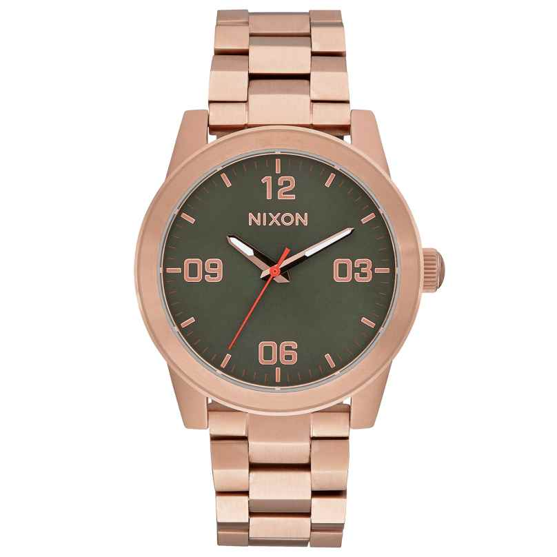 Nixon A919 2283 G.I. SS Rose Gold/Green Damenuhr 3608700747323