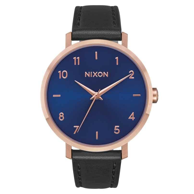 Nixon A1091 2763 Damenuhr Arrow Leder Roségold/Indigo/Schwarz 3608700231235