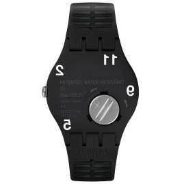Swatch SUOK135 Herrenarmbanduhr Black Board