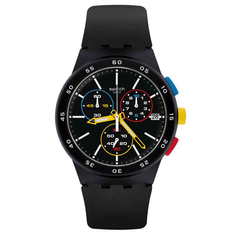 Swatch SUSB416 Herrenuhr Chronograph Black-One 7610522808164