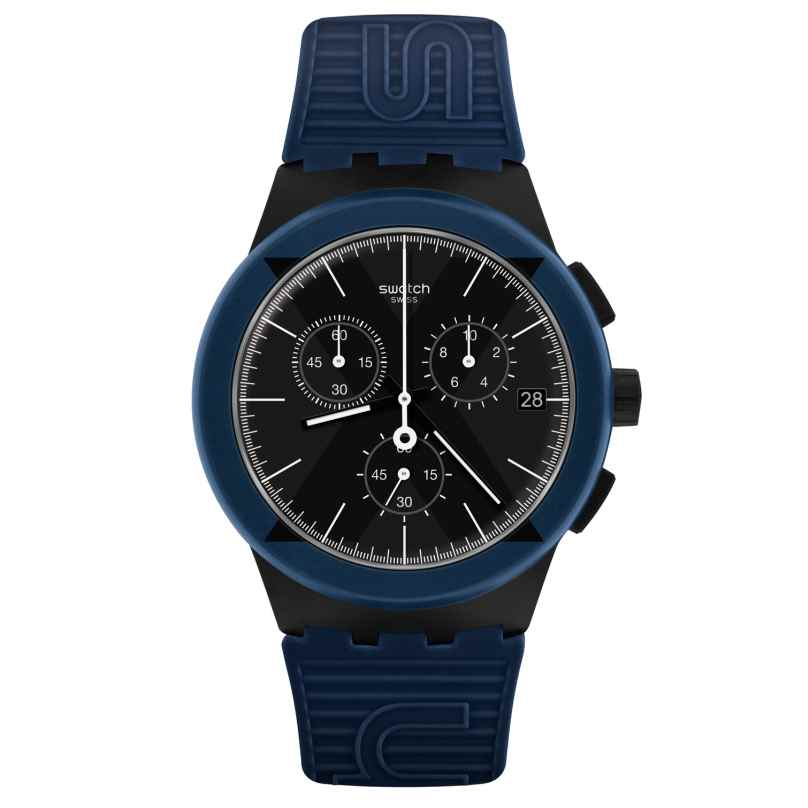 Swatch SUSB418 Herrenuhr Chronograph X-District Blue 7610522808171