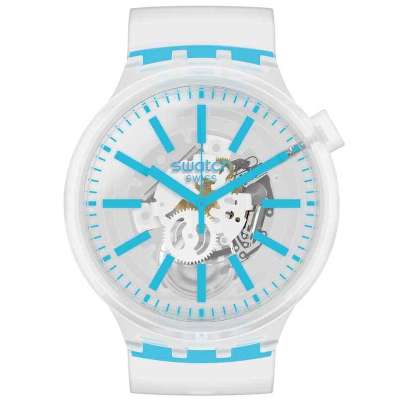 Swatch SO27E105 Big Bold Uhr Blueinjelly 7610522827776