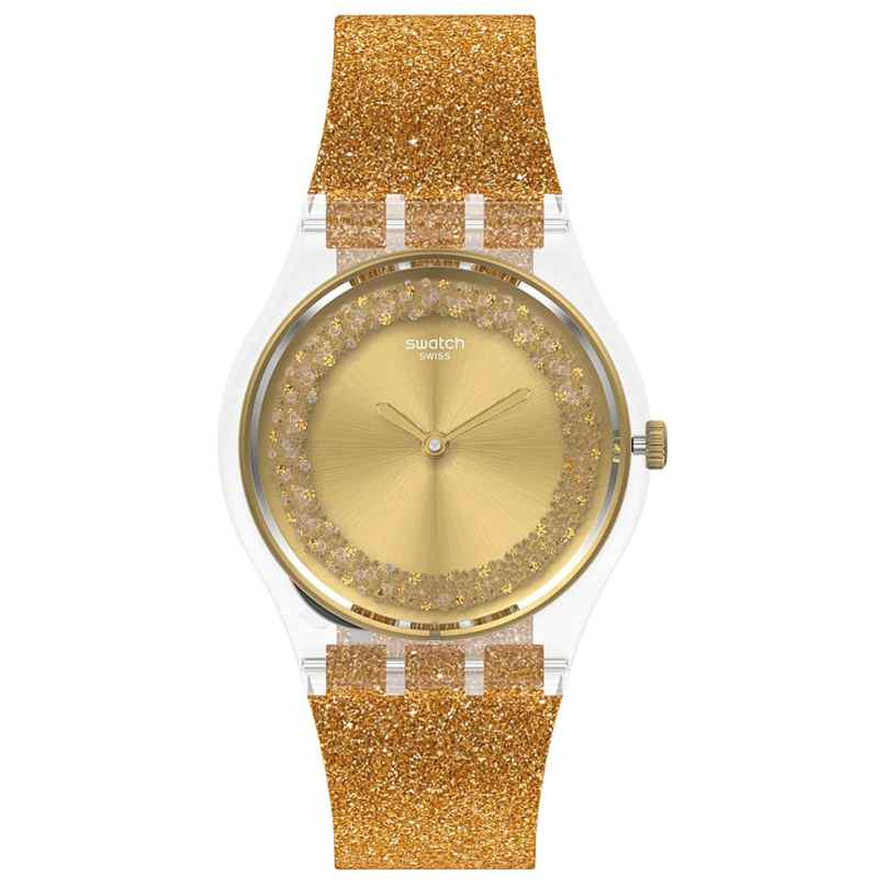 Swatch GE285 Women's Watch Sparklingot Gold Tone 7610522831414