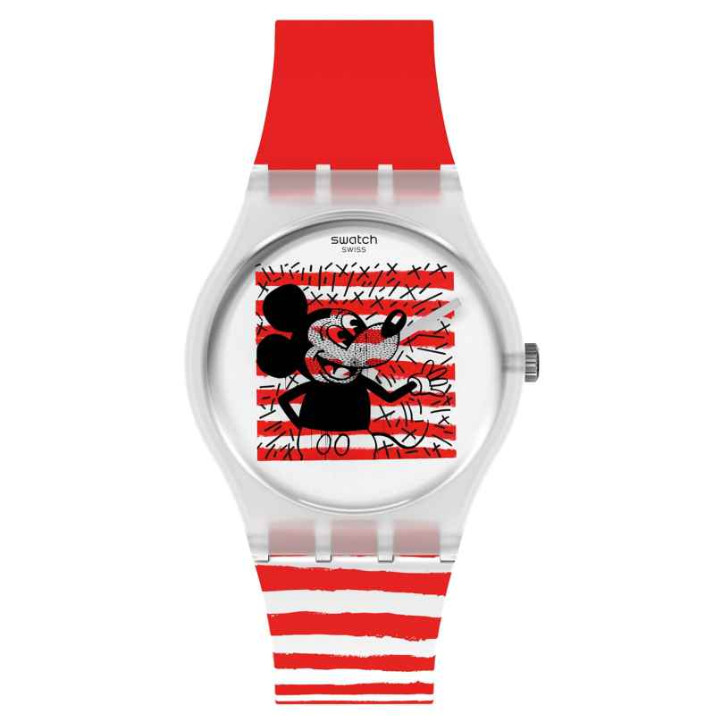Swatch GZ352 Armbanduhr Keith Haring Mouse Mariniere 7610522832787