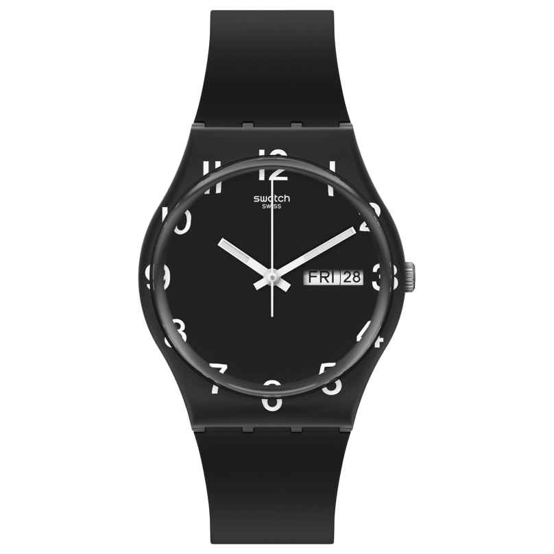 Swatch GB757 Armbanduhr Over Black 7610522833234