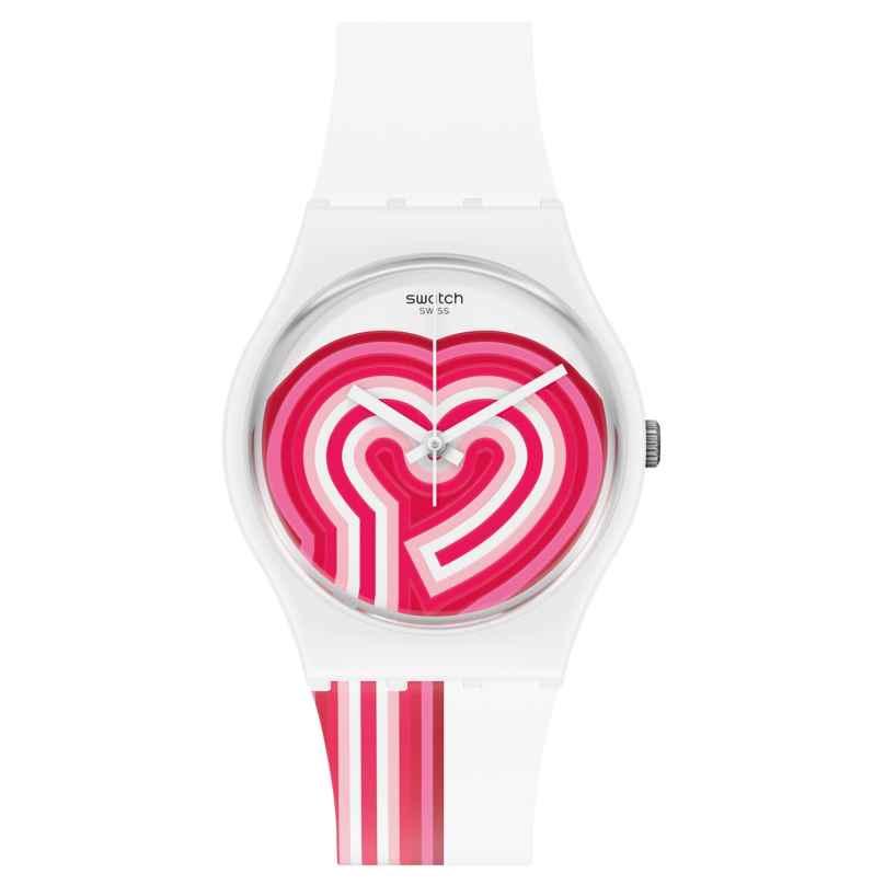 Swatch GW214 Damen-Armbanduhr Beatpink 7610522833012