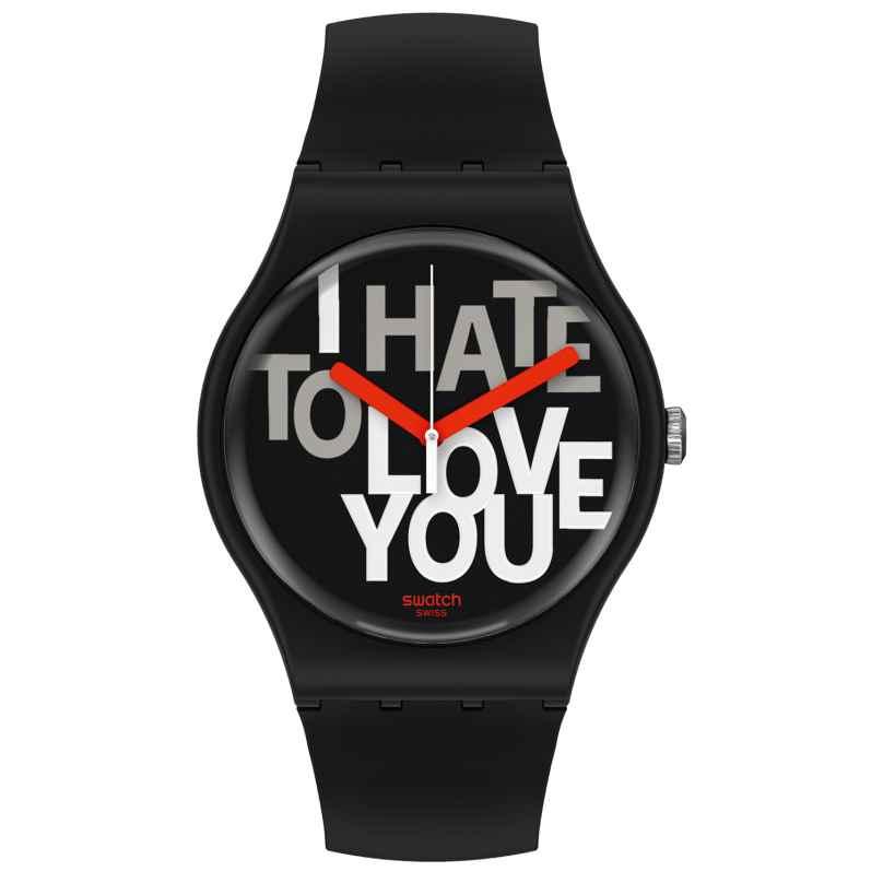 Swatch SUOB185 Unisex-Armbanduhr Hate 2 Love 7610522835108