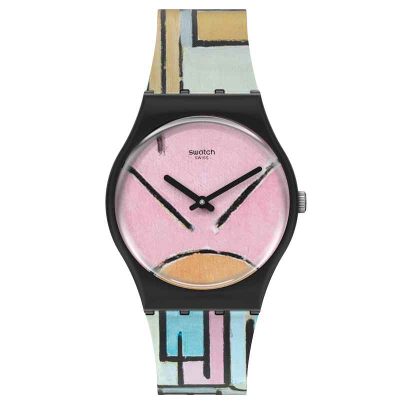 Swatch GZ350 Uhr Composition in Oval with Color Planes 1 by Piet Mondrian 7610522833036