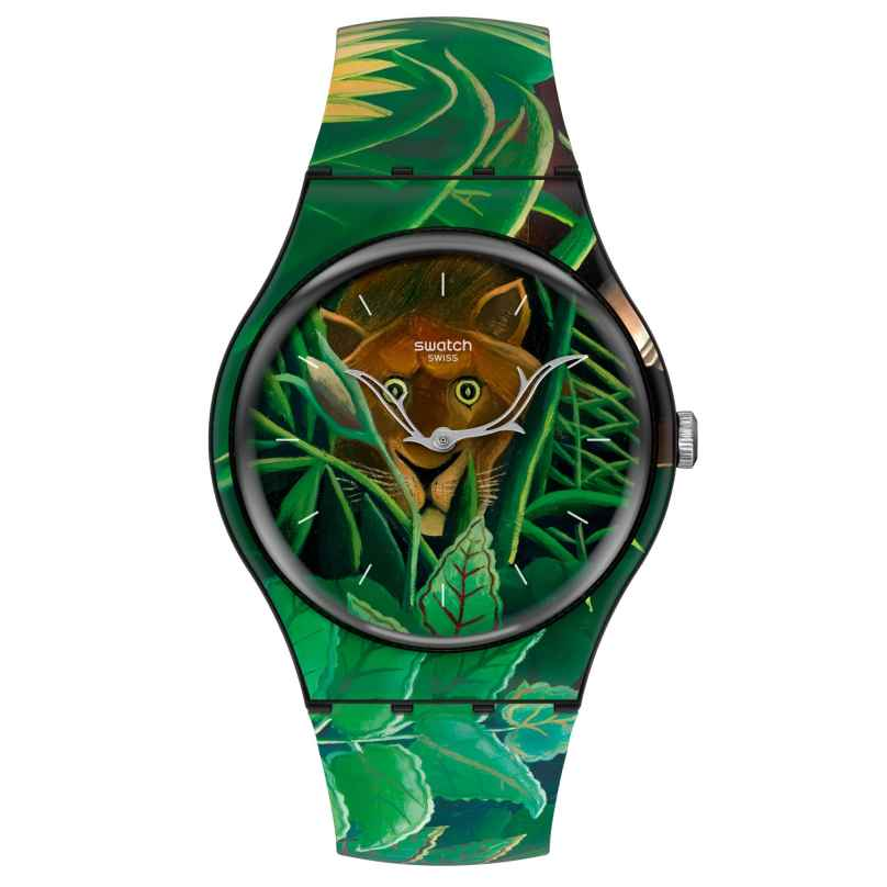 Swatch SUOZ333 Armbanduhr The Dream by Henri Rousseau, The Watch 7610522834552