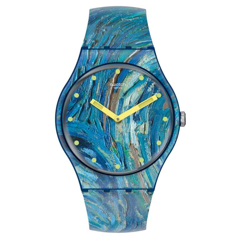Swatch SUOZ335 Armbanduhr The Starry Night by Vincent Van Gogh, The Watch 7610522834842