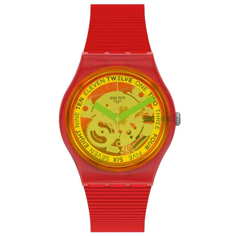 Swatch GR185 Damen-Armbanduhr Retro-Rosso Rot 7610522837270