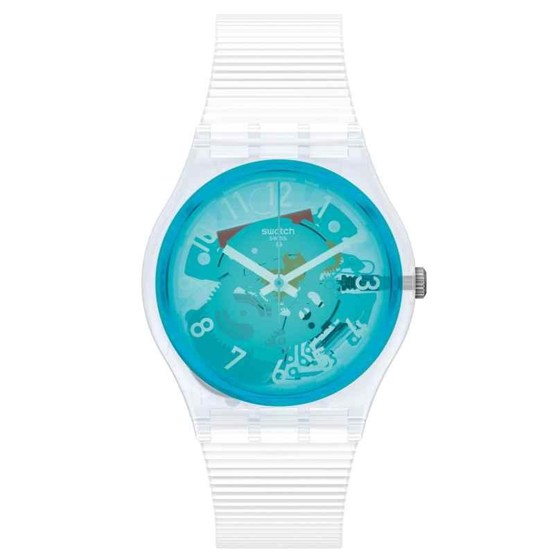 Swatch GW215 Damenuhr Retro-Bianco Türkis/Weiß 7610522837287